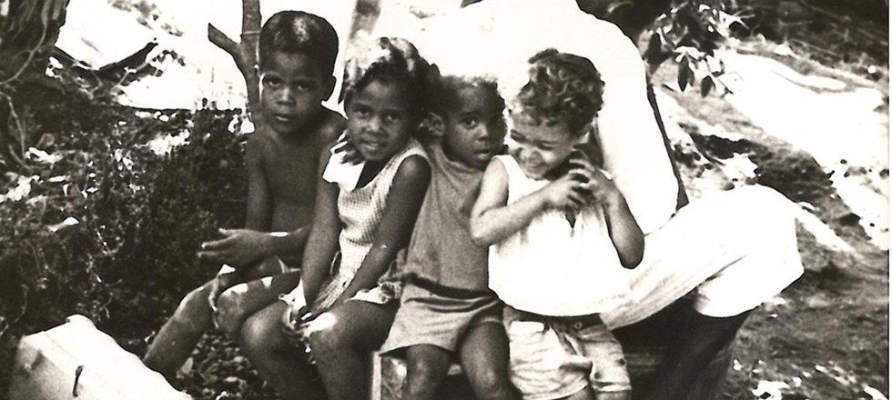 Enfants au village du Prêcheur